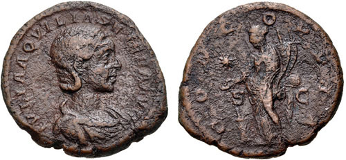 aquilia severa roman coin as